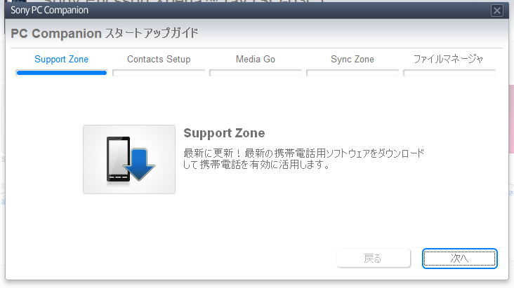Support Zoneの説明